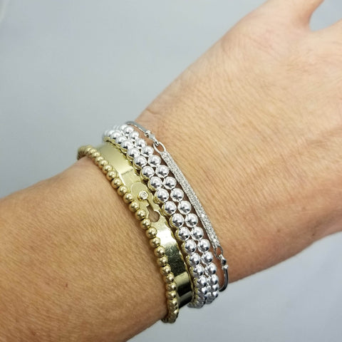 silver and gold mixed bracelet
