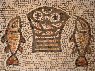 ancient fish in christian artwork