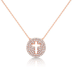 rose gold cross necklace