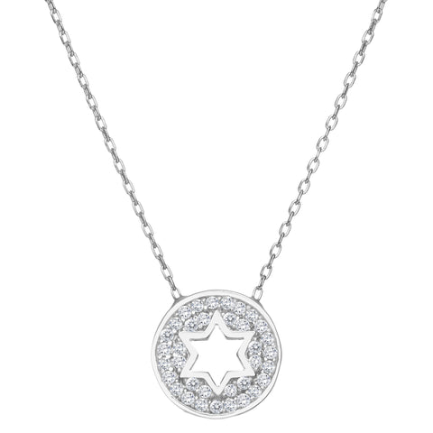 Jewish star necklace for graduation