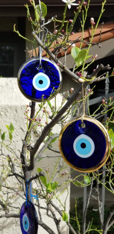 glass nazar eye