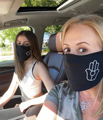 mom and daughter mask
