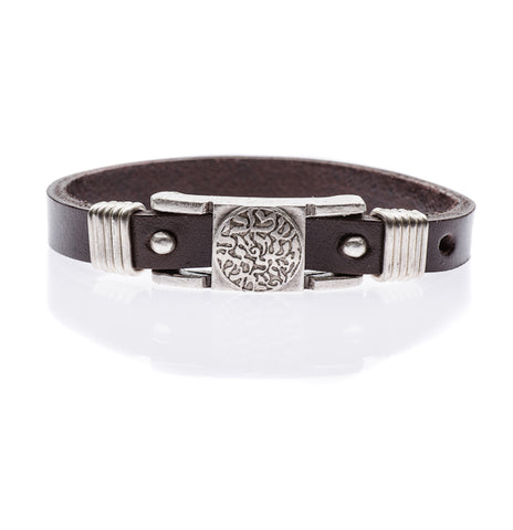leather shema bracelet
