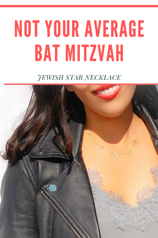 not average bat mitzah necklace