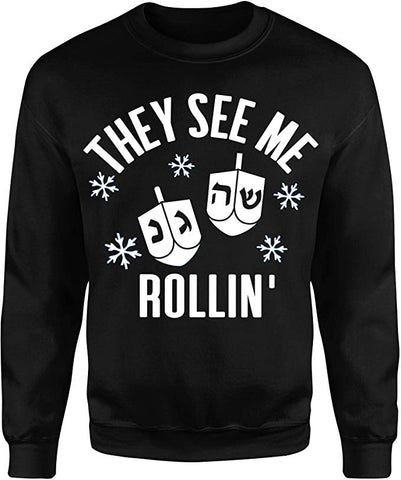 they see me rollin hanukkah sweater