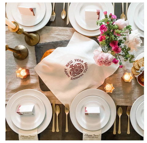 table decor jewish high holidays