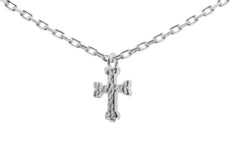 silver cross tiny necklace