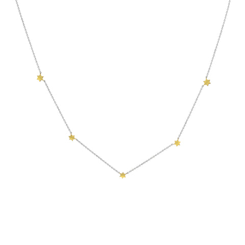 star necklace stationed on chain