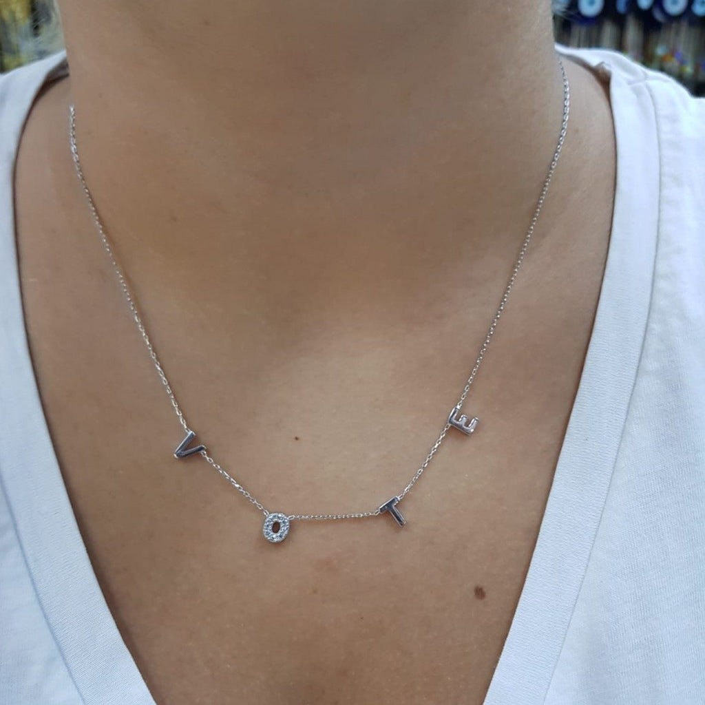 VOTE Necklace in Sterling Silver