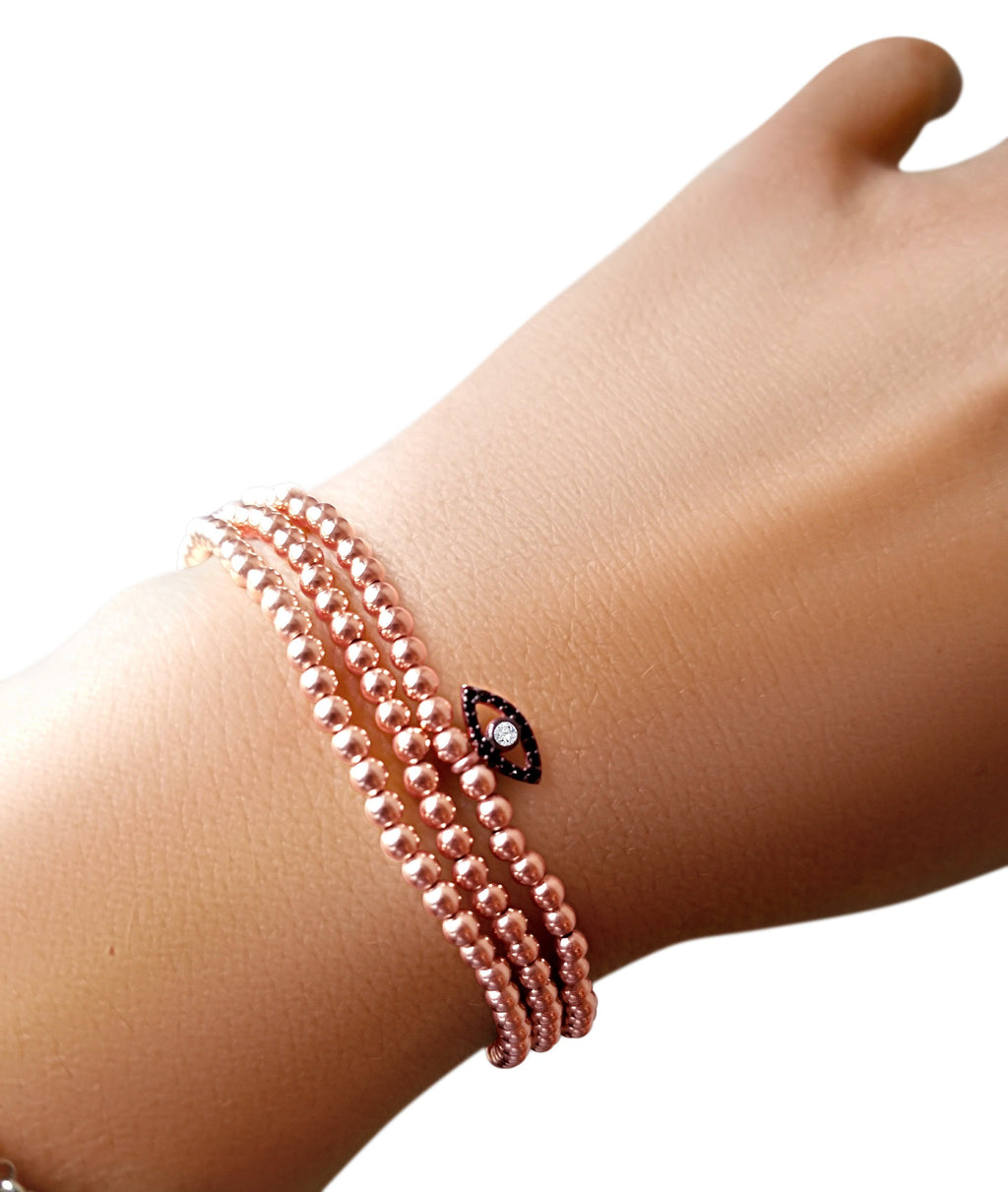 6mm Rose Gold Beaded Bracelets
