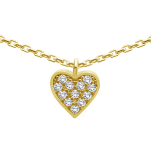 Sparkling Heart Necklace in Sterling Silver
