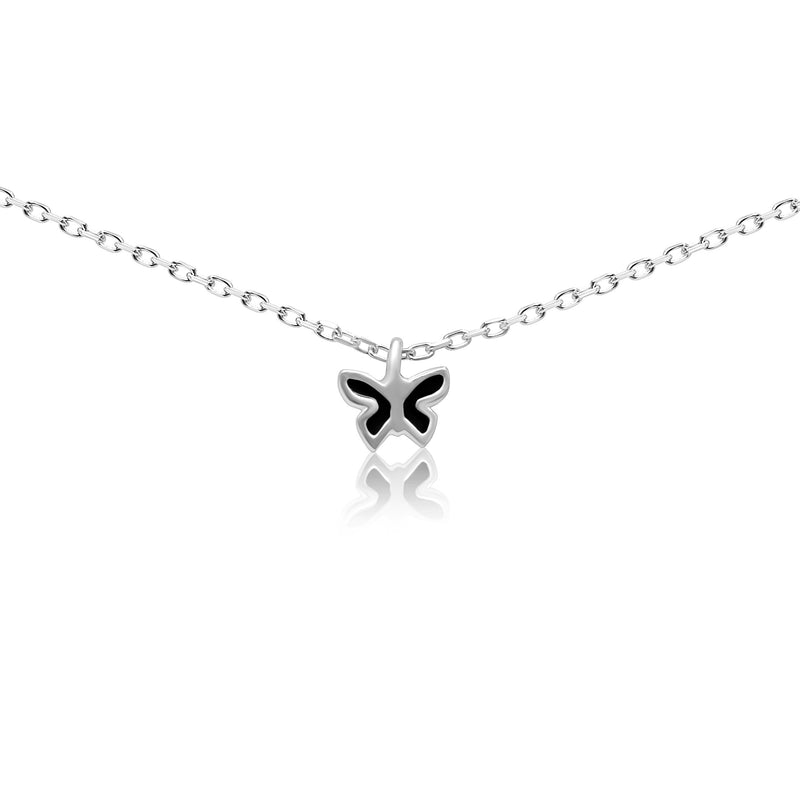 Tiny Colorful Butterfly Charm Necklace