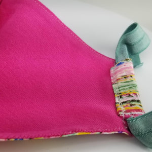 Pink Fabric Facial Mask Cotton Handmade in Los Angeles