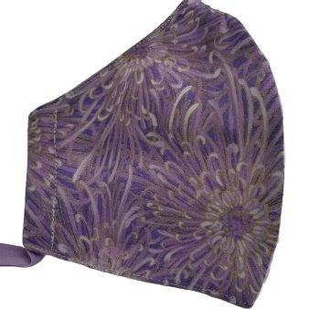 purple floral mask
