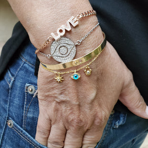 evil eye and love bracelet