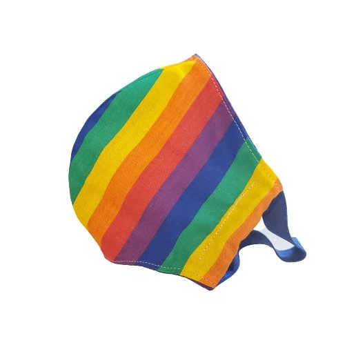 Rainbow Colorful Fabric Facial Mask Cotton Handmade in Los Angeles