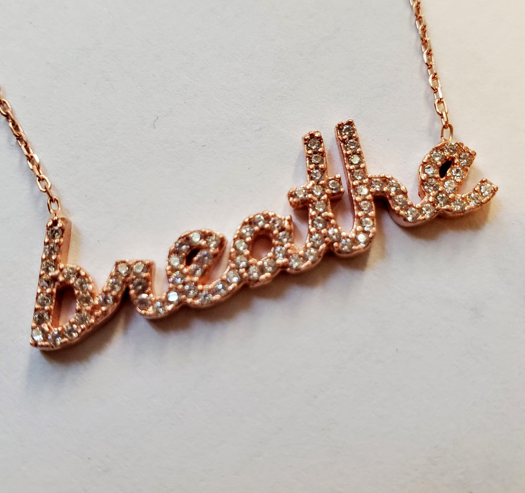 Breathe Necklace in Rose Gold