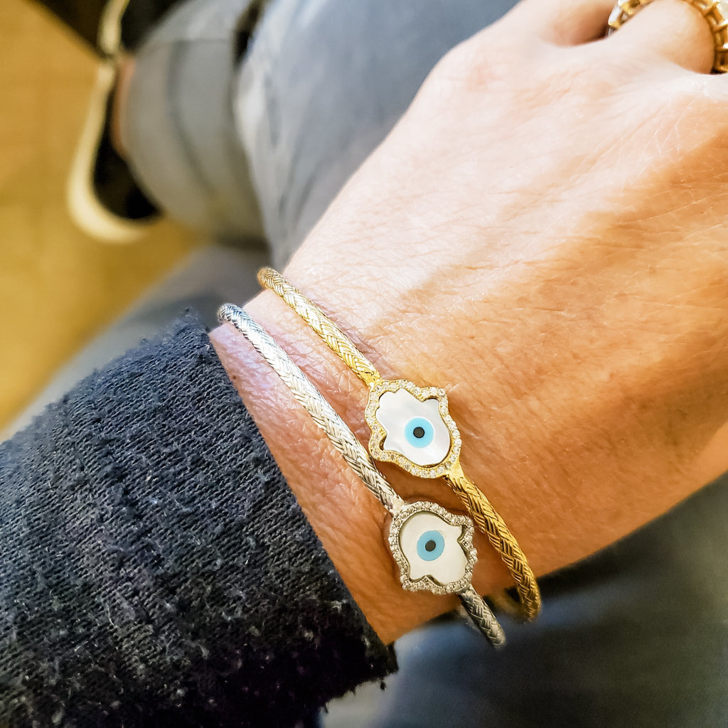 hamsa mother of pearl bracelets