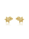 Jewish Star and Heart Earrings Gold--Mix and Match
