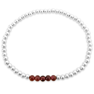 Your Choice of Gemstones with 4mm Beads