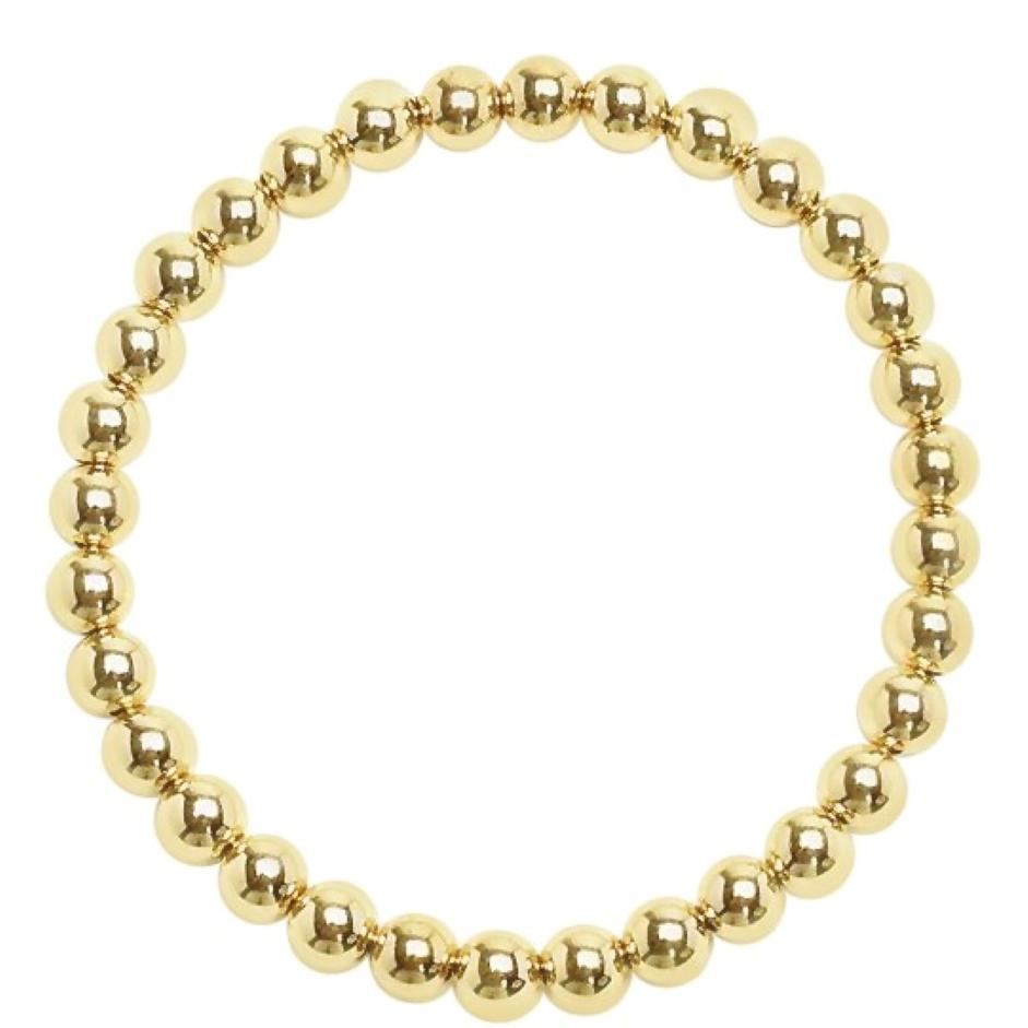 gold filled beads 6mm in size