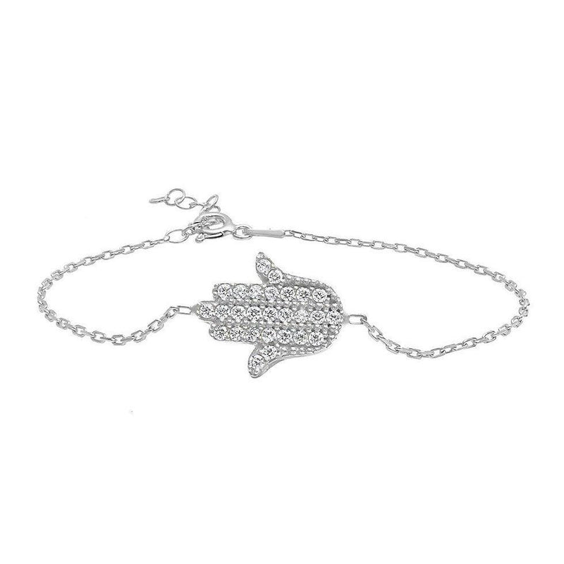 silver hamsa hand of god bracelet
