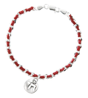 chai red string bracelet