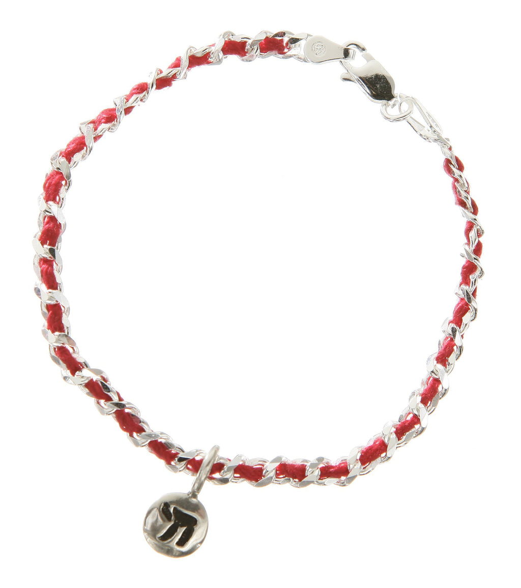 chai red string bendel bracelet