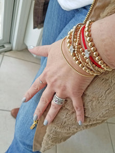 Chain Ring - Alef Bet Jewelry by Paula