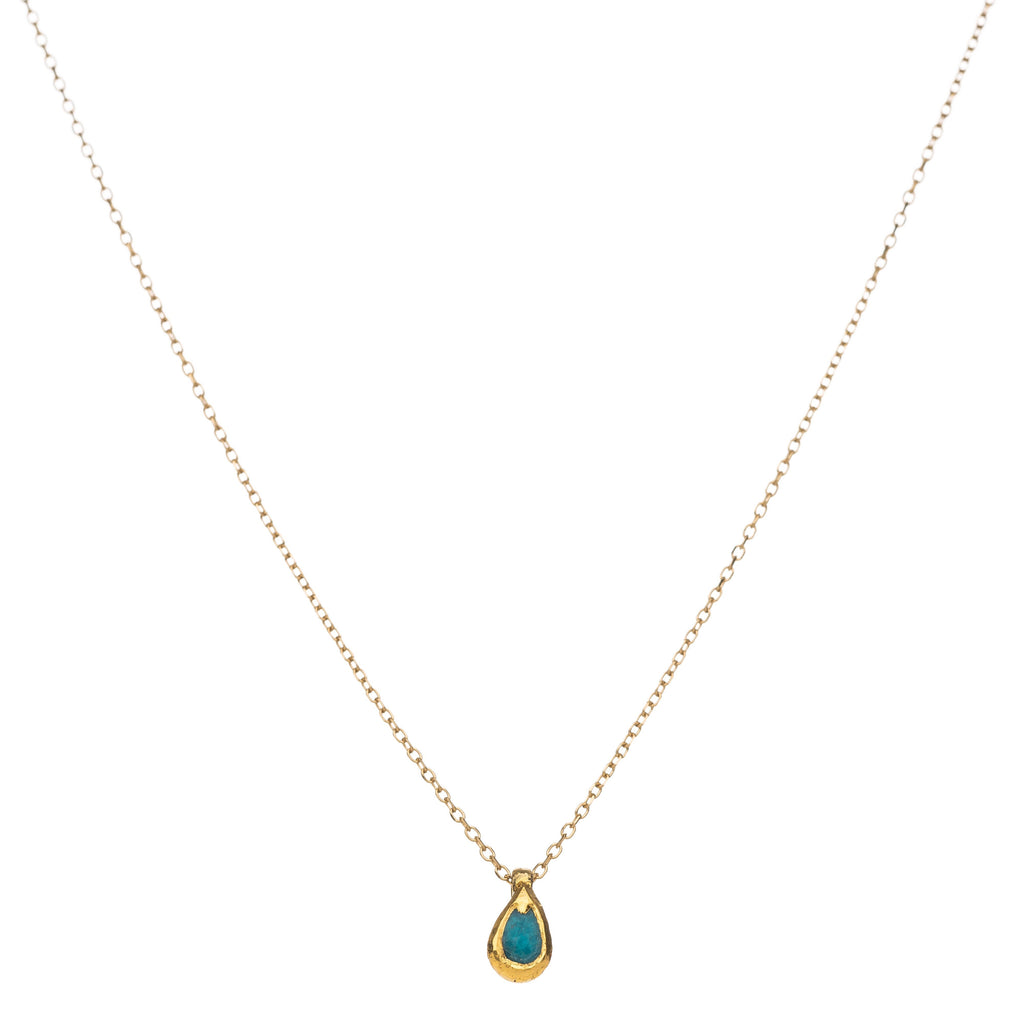 Droplet of Rain Necklace - Alef Bet Jewelry by Paula