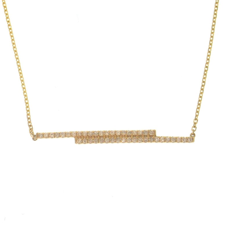 double line of diamond necklace