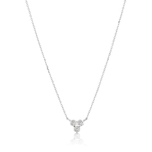 white gold small diamond pendant