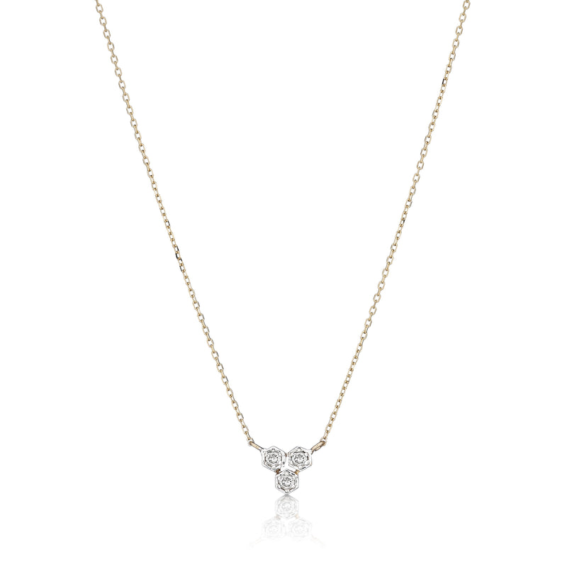 minimal diamond necklace
