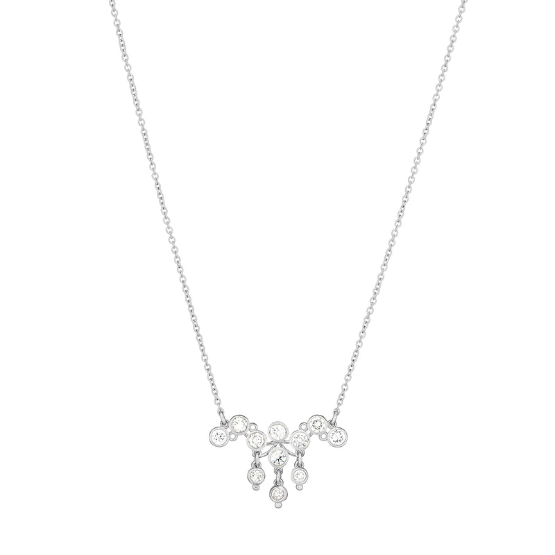 Cluster of Diamond Necklace - Alef Bet Jewelry by Paula