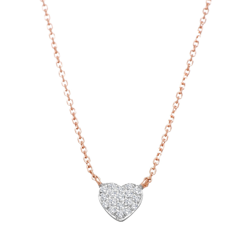 rose gold heart jewelry