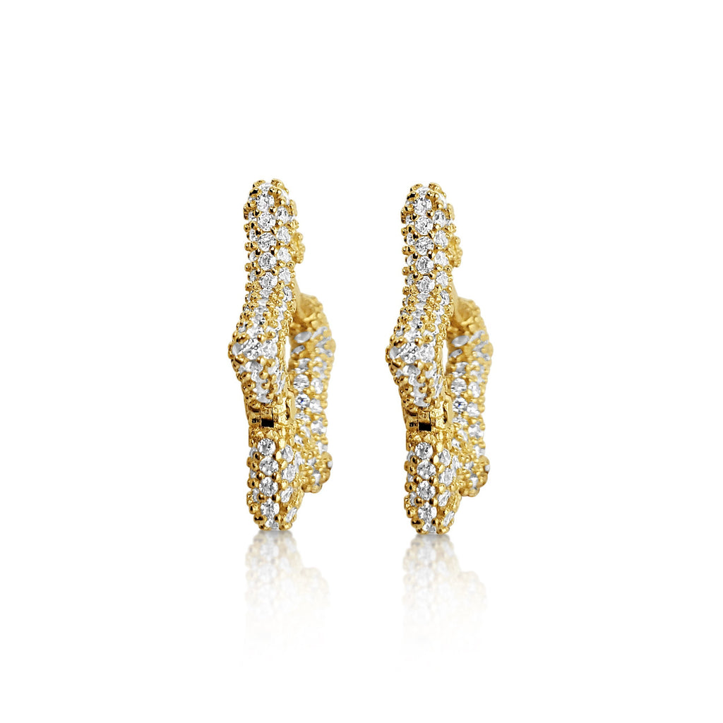 Star Gold Sparkling Earrings