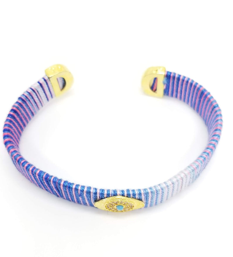 purple eye bracelet
