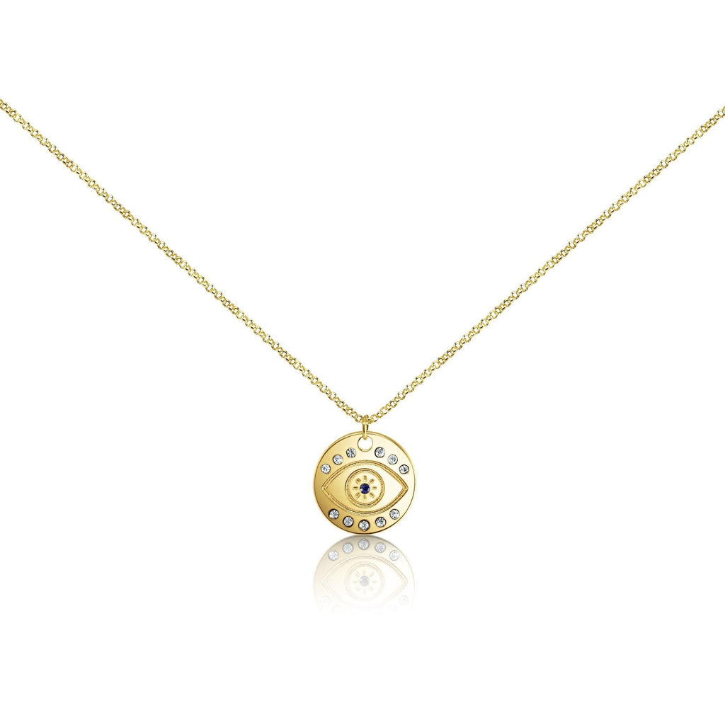 evil eye necklace in gold