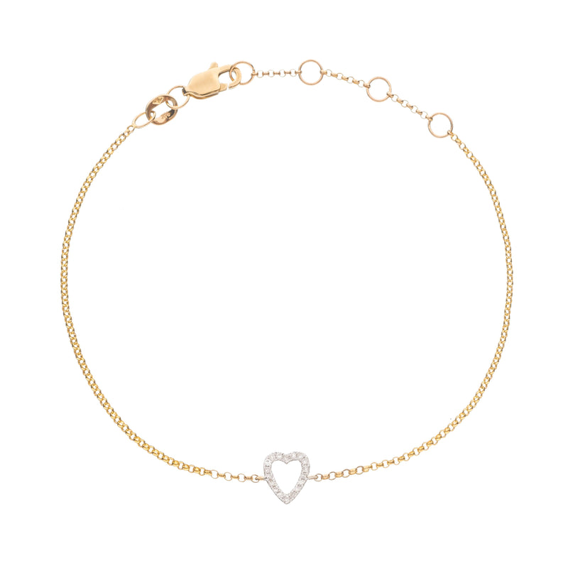 Love Heart Bracelet in 14k Gold
