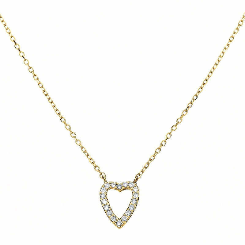 heart jewelry in gold