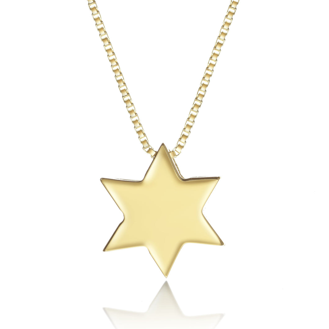 simple gold jewish star necklace