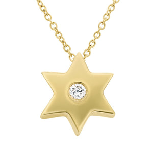 JEWISH STAR IN YELLOW GOLD