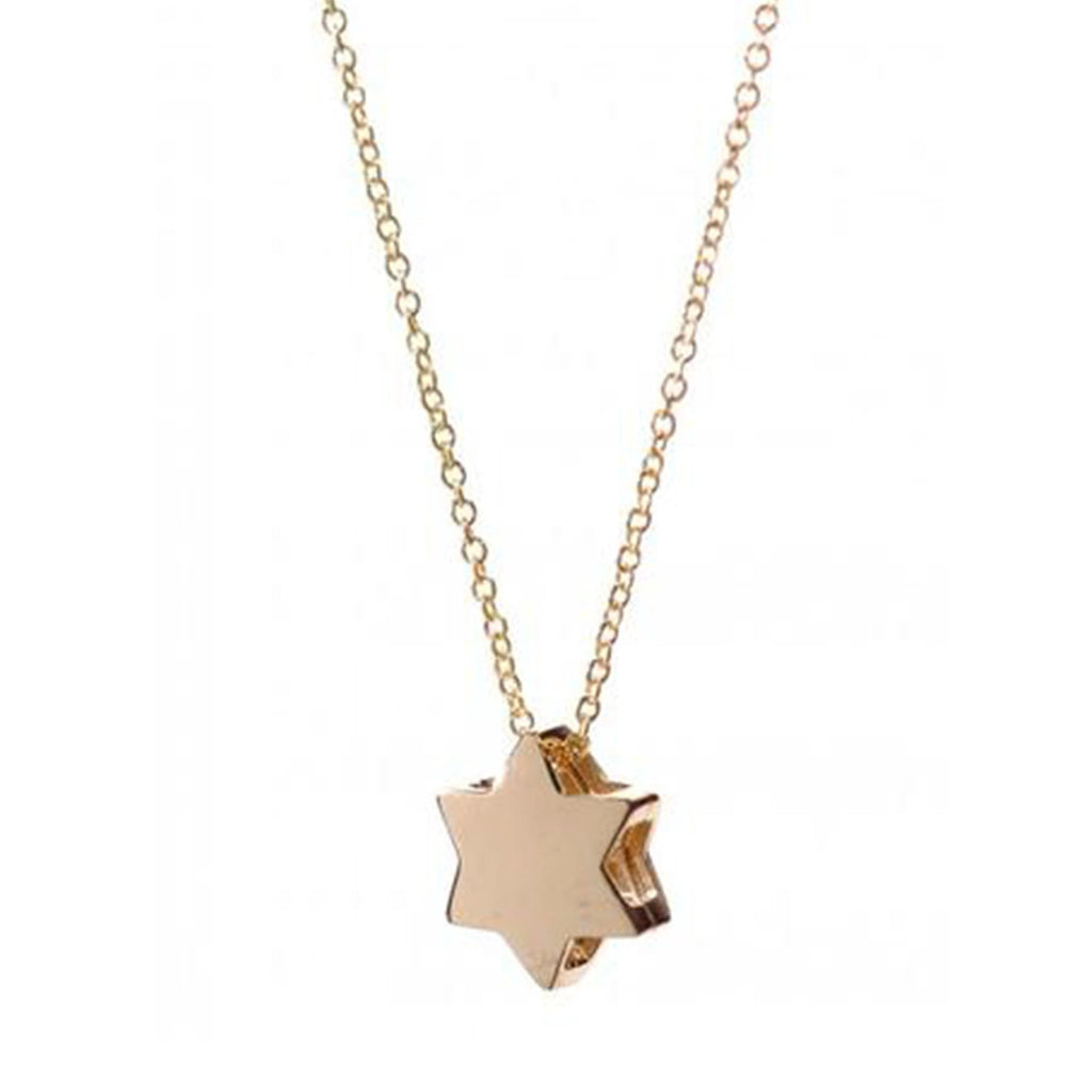 Star of David 14k Necklace - Alef Bet Jewelry by Paula