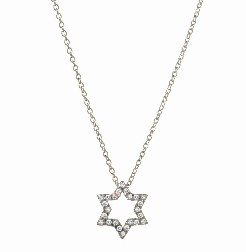 JEWISH STAR DIAMOND NECKLACE