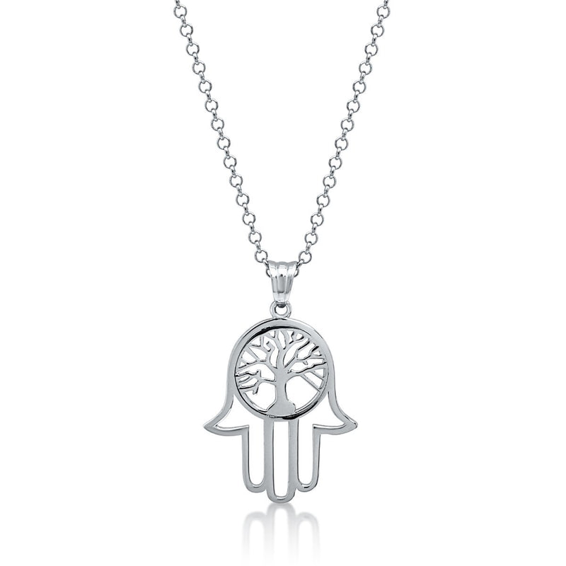 HAMSA NECKLACE WITH TREE OF LIFE