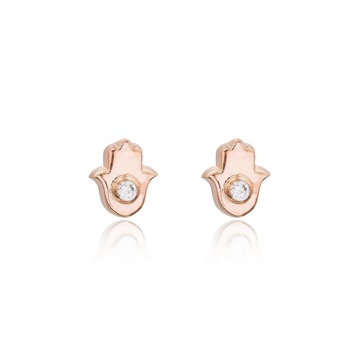 rose gold hamsa earring