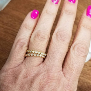 14k Gold Circles After Circles Rings - Alef Bet Jewelry by Paula