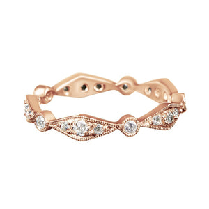 Rose Gold Vintage Diamond Ring 18k