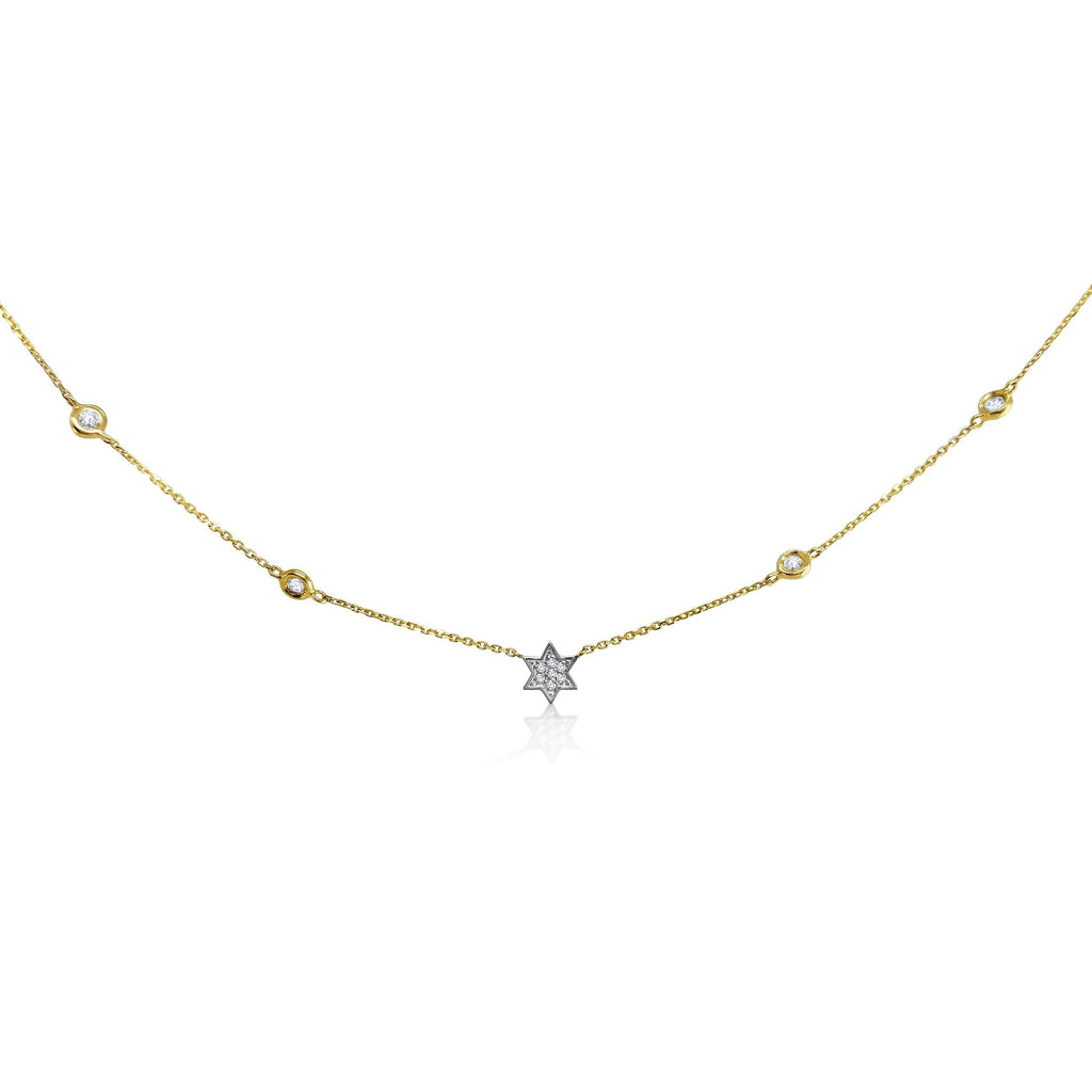 jewish star necklace diamonds
