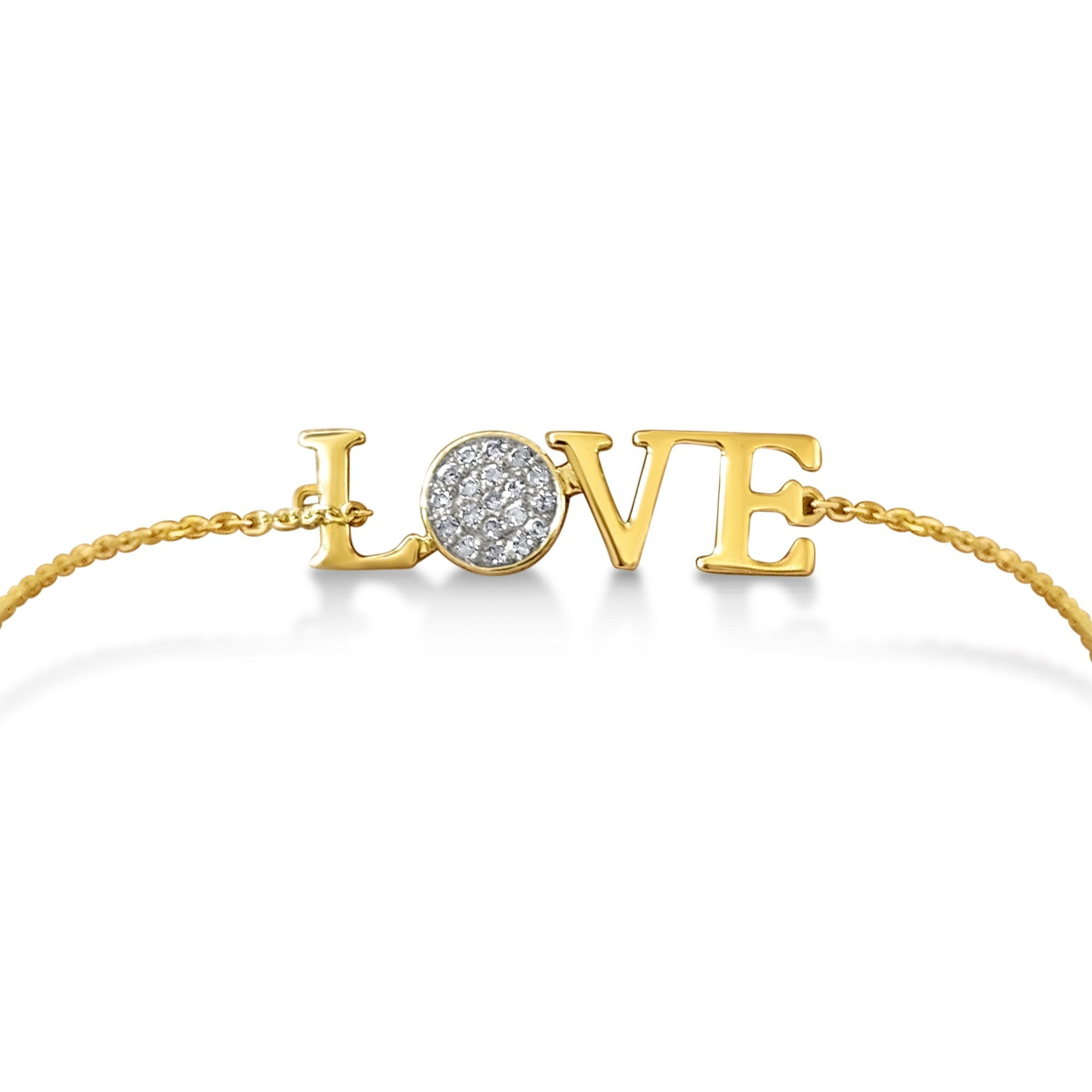 love in yellow gold bracelet